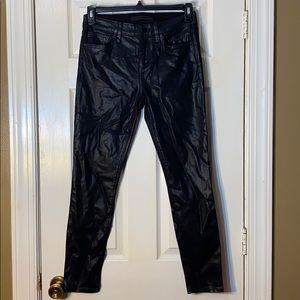 EUC Joe's Black Skinny Waxed Jeans Size 28